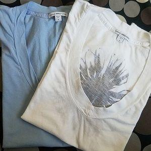 James Perse V-Neck Cotton T-Shirt